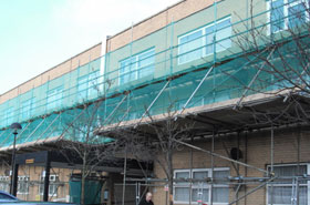 Scaffold Erection for milton keynes Council