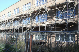 Milton Keynes Council Window Replacement Scaffolding