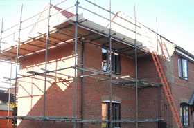 Old Farm Private Scaffolding Erection for Home Extension