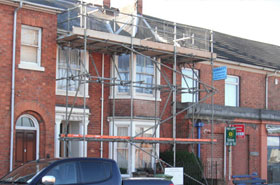 Wolverton Scaffold Erection House Re-roofing